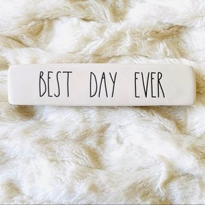 RAE DUNN Best Day Ever Wedding Sign NEW